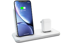 Zens Wireless Charger Dual + Dock 10W Aluminium White