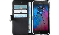 Azuri Wallet Magnet Motorola Moto G5S Book Case Black