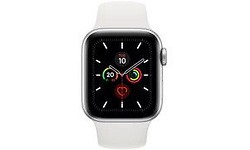 Apple Watch Series 5 40mm Silver Sport Band White