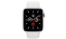 Apple Watch Series 5 44mm Silver Sport Band White