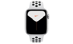 Apple Watch Nike Series 5 44mm Silver Sport Band Black/White