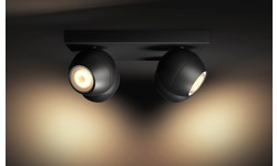 Philips Philips Hue Buckram 4-Spot Black + Dimmer