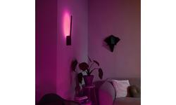 Philips Hue Liane Wall Light White & Colour Black