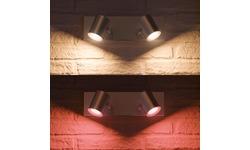 Philips Hue Argenta 2-Spot White & Colour Aluminium