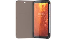 Nokia 8.1 Slim Flip Book Case Grey