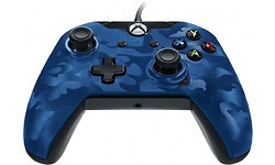 PDP Wired Deluxe Controller Blue Camo