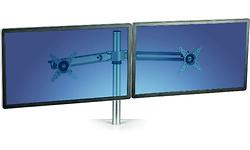 Fellowes Dual Lotus Single Monitor Arm Kit Silver