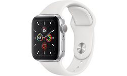 Apple Watch Series 5 4G 40mm Silver Sport Band White