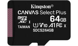 Kingston Canvas Select Plus MicroSDXC UHS-I 64GB + Adapter 2-pack