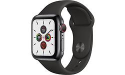 Apple Watch Series 5 4G 40mm Black Sport Band Black