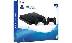 Sony PlayStation 4 1TB Black + 2 Controllers