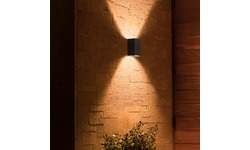Philips Hue Resonate Outdoor Wall Light White And Color Ambiance Black Outside