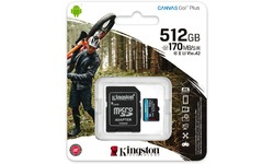 Kingston Canvas Go! Plus MicroSDXC UHS-I U3 512GB + Adapter