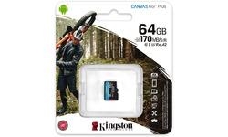 Kingston Canvas Go! Plus MicroSDXC UHS-I U3 64GB