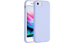 Selencia Accezz Liquid Silicone Backcover iPhone SE (2020) / 8 / 7 Cover Purple