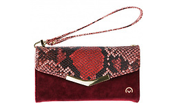 Mobilize Mobilize Velvet Clutch for Apple iPhone X/Xs Red Snake