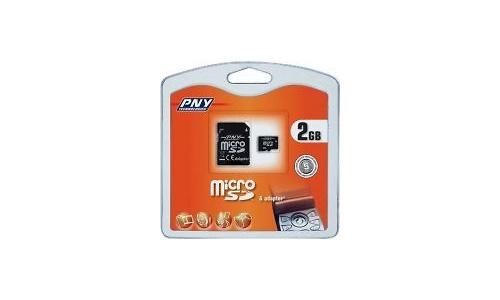 PNY MicroSD 2GB + Adapter