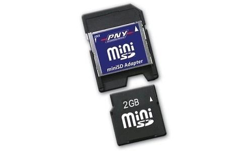 PNY MiniSD 2GB