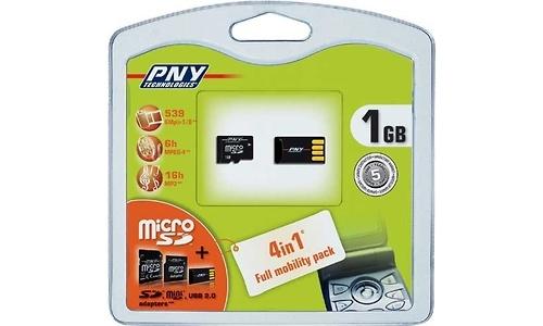 PNY MiniSD 1GB + USB adapter