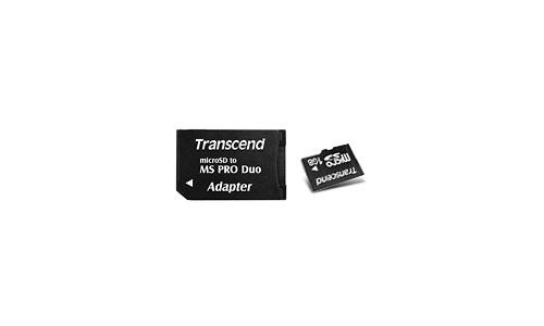 Transcend MicroSD 1GB + Memory Stick Pro Duo adapter