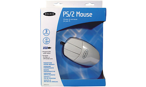 Belkin 3 Button Mouse PS/2 White
