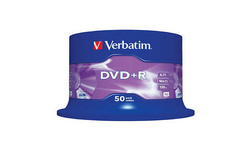 Verbatim DVD+R 16x 50pk Spindle