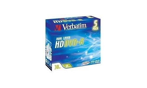 Verbatim HD-DVD-R DL 1x 5pk Jewel case