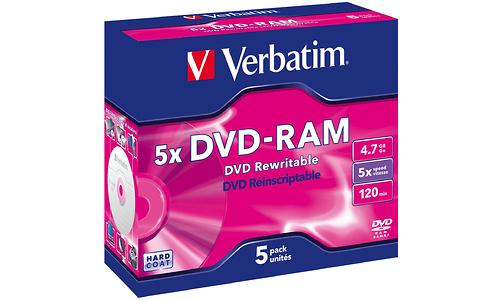 Verbatim DVD-RAM 5x 5pk Jewel case