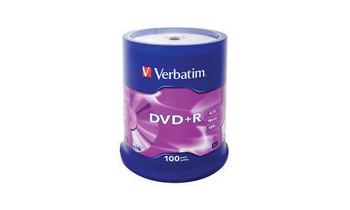 Verbatim DVD+R 16x 100pk Spindle