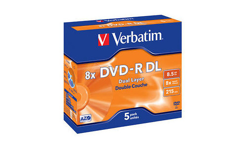 Verbatim DVD-R DL 8x 5pk Jewel case