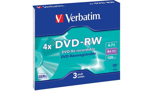 Verbatim DVD-RW 4x 3pk Slim case