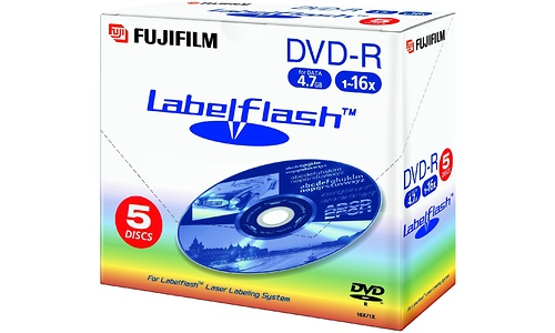 Fujifilm DVD-R 16x 5pk LabelFlash Jewel case