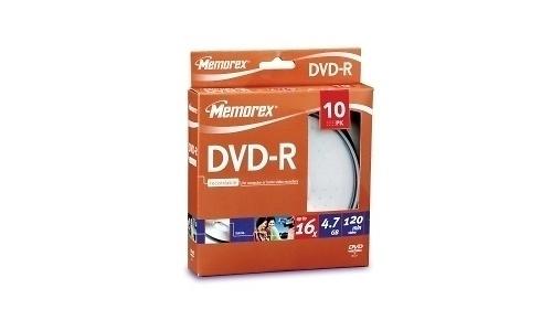 Memorex DVD-R 16x 10pk Spindle