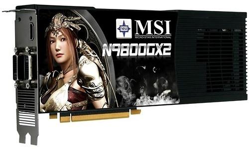MSI N9800GX2-M2D1G