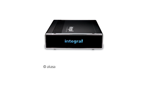 Akasa Integral P2 LAN Network Drive Enclosure NDAS Black