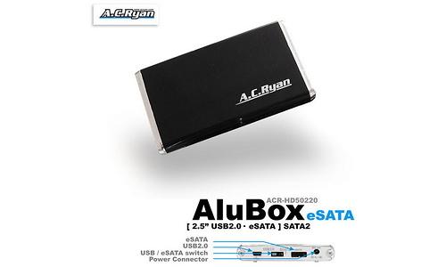 """AC Ryan AluBox 2.5"""" USB2/eSata Black"""