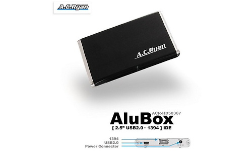 "AC Ryan AluBox 2.5"" USB2/FW400 Black"