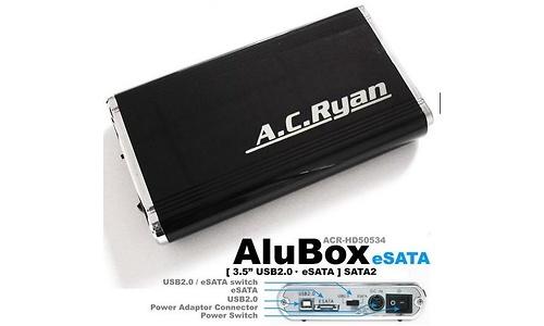 """AC Ryan AluBox 3.5"""" USB2/eSata Black"""