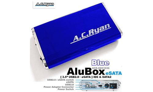 "AC Ryan AluBox 3.5"" eSata Blue"