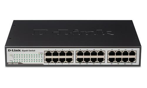 D-Link 24-port 10/100/1000 Rackmountable Switch