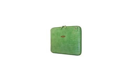 """Mobile Edge Small Faux-Croc Portfolio 14.1"""" Green"""