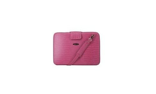 """Mobile Edge Large Faux-Croc Portfolio 15.4"""" Pink"""