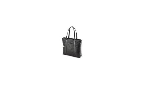 """Mobile Edge Leather Tote Notebook Case 15.4"""" Black"""