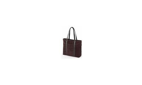"""Mobile Edge Suede Ultra Tote 15.4"""" Chocolate"""