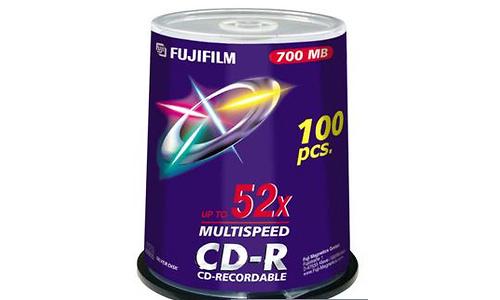 Fujifilm CD-R 52x 100pk Printable Spindle