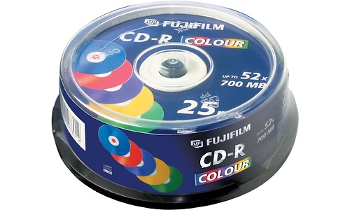 Fujifilm CD-R 52x 25pk Color Spindle