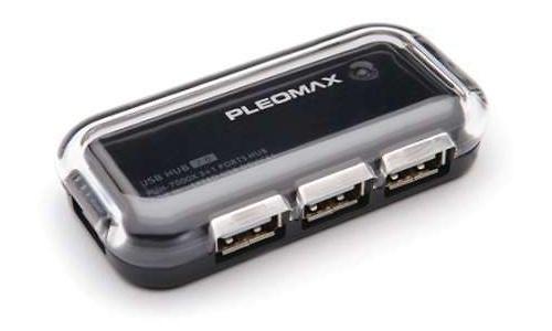 Samsung Pleomax Black Crystal Series 4-port USB Hub