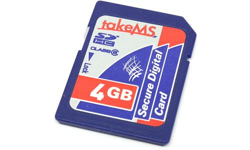 takeMS SDHC Class 6 4GB