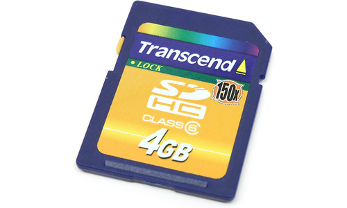 Transcend SDHC Class 6 150x 4GB