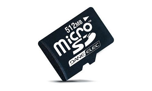 Dane-Elec MicroSDHC 4GB + 2 adapters
